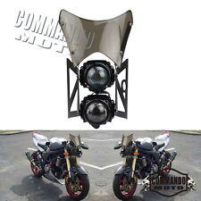 2 Bulbs Motorcycle Headlights W/ Windscreen Windshield For MadAss 50 125 500 New