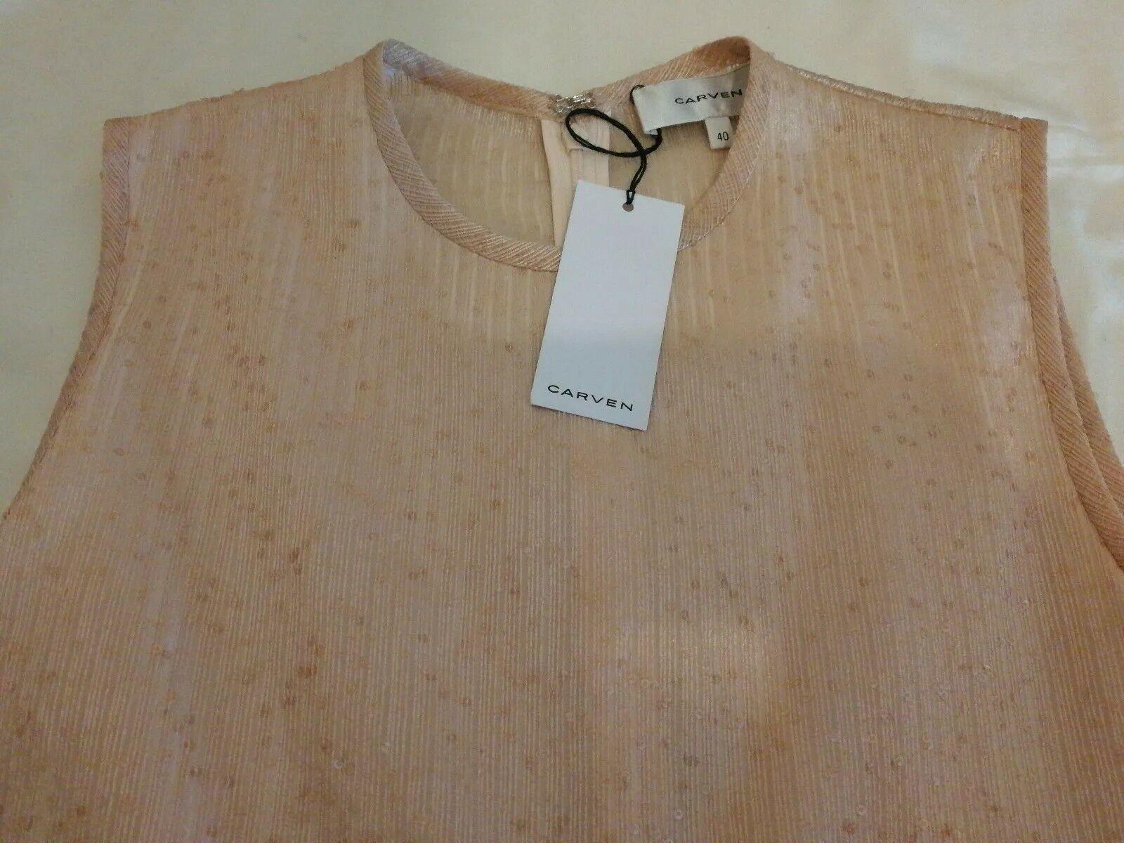 Carven Robe Robe Robe Baby Doll Dress Nude Pink ITA 44 3f186e