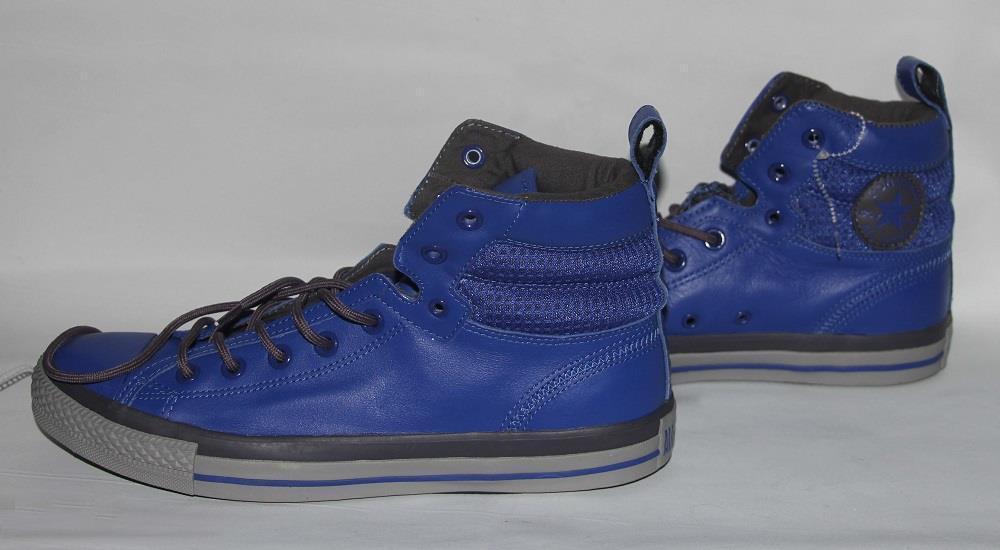 Converse Royal   Cobalt azul gris Padded Collar Leather Hi-Top zapatos MNS 9 NEW