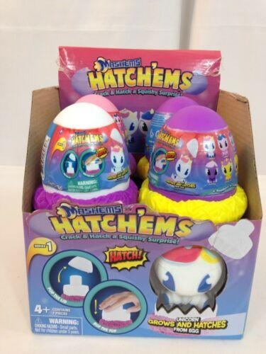 MASHEMS HATCHEMS FULL BOX OF 7 EGGS  **NEW**