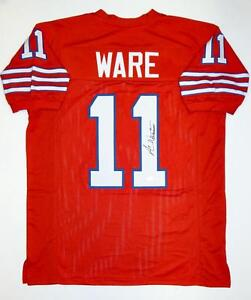 a0fe3ed7 Image is loading Andre-Ware-Autographed-Red-College-Style-Jersey-W-