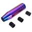 13cm Neo Chrome Colorful Car Gear Shift Knob Shifter Lever Handle With 3 Adapter