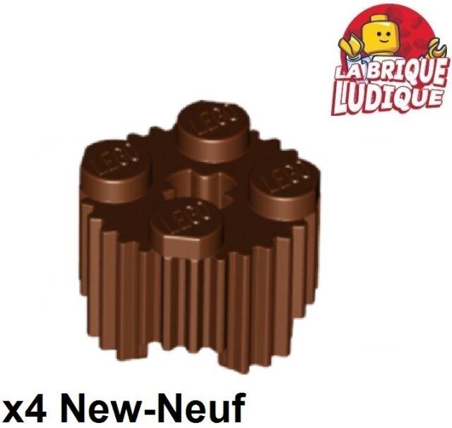 Lego 4 Brown 1x1 round brick block