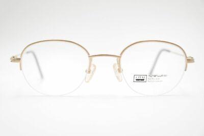Capace Vintage Chai 5054 46 [] 21 142 Oro Mezza Bordo Occhiali Montatura Eyeglasses Nos- Stile (In) Alla Moda;