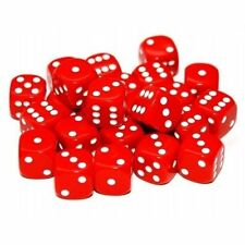 DICE - 16mm Red 6 sided spot dice - pack of 24