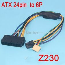 ATX 24pin to 6pin Motherboard 2-port Power Supply Cable F HP Z220 Z230 SFF 30cm