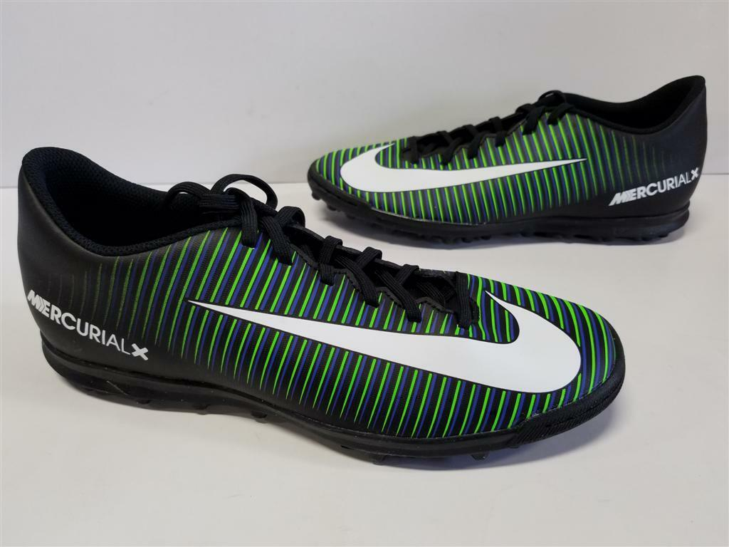 Nike MercurialX Mercurial X Vortex III TF Black White Paramount Blue 831971 014 The most popular shoes for men and women