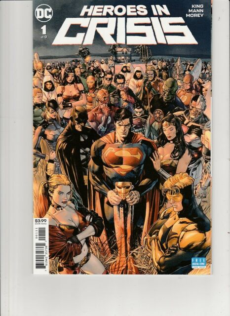 Heroes In Crisis #1 DC Comics Tom King Clay Mann Cover NM