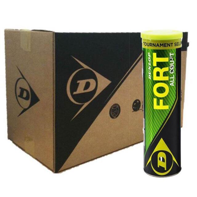 Box of Dunlop Fort All Court TS Tennis Balls (18 Tubes of 4 Balls)