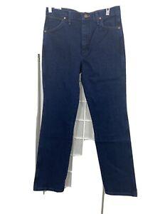 Men-039-s-Wrangler-Cowboy-Cut-Jeans-Slim-Fit-Blue-32W-x-34L-NWD