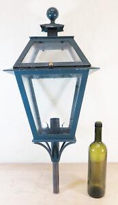 LAMPIONE-IN-FERRO-BATTUTO-FORGIATO-MANO-VINTAGE-PARETE-LANTERNA-LUME-LAMPADA-CH