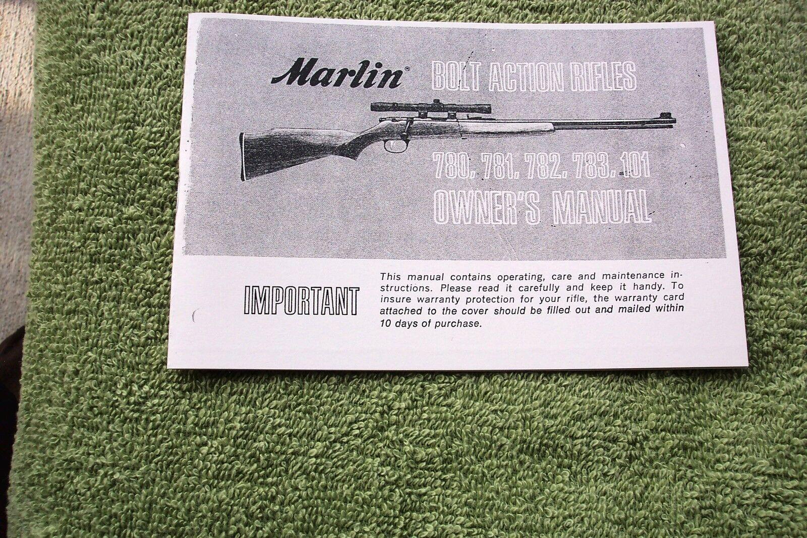 MARLIN Model 60 75 99 70 99M1 .22 Cal Rifle Gun OWNERS MANUAL