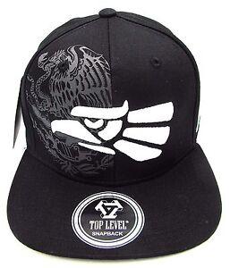 MEXICO Snapback Cap Hat Mexican Eagle Aguila Flag Black Flat Bill ... 4140d934242