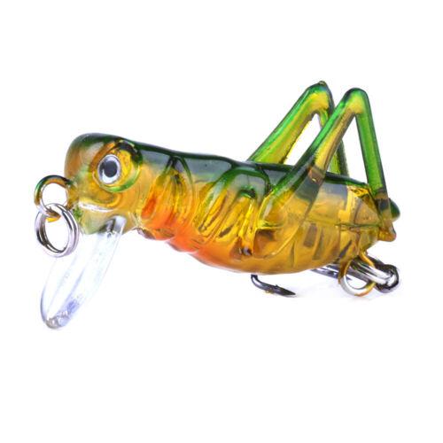 Grasshopper insects Fishing Lure Hard Plastic Locust Flying Wobbler Bait  Tool