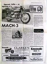 KAWASAKI Mach-3 500cc - Motorcycle Road Test Reprints - Dec 1970