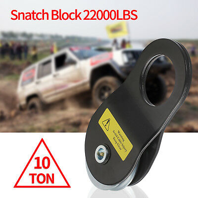 Off Road ATV UTV Jeep Truck 10T 10 Ton Snatch Block Winch Pulley Recover