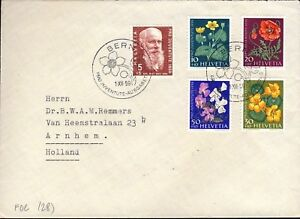 SUISSE-SWITZERLAND-SCHWEIZ-1959-034-PRO-JUVENTUTE-034-set-Mi-687-91-on-FDC
