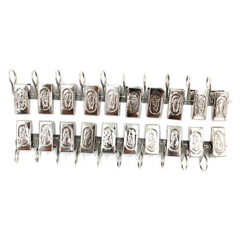 20x Edelstahl Netz Vorhang Gardine Clips Ring Klammer Zubehör von Vorhänge V5U0