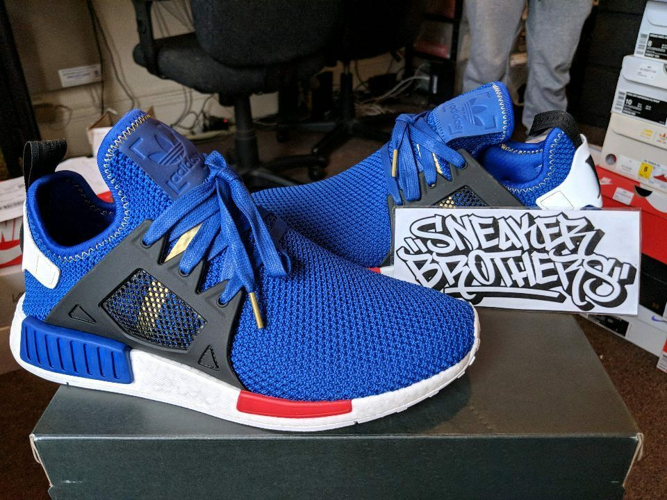 Adidas Originals NMD_XR1 Nomad Boost Mystery Blue Vivid Red White Black AC7185