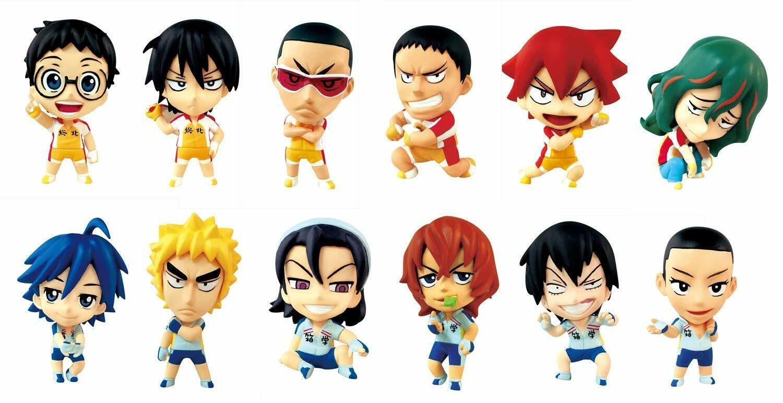 Ani Chara héroes Yowamushi Pedal Mini Figuras 12 piezas Conjunto en caja