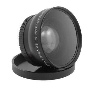 0.45x Wide Angle Lens 58mm & Macro F Canon Eos 650d 50d 40d 400d 450d Lf37 Cs###