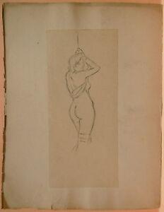 Dessin-Original-LUBIN-DE-BEAUVAIS-XIXe-Etude-de-Nu-Art-Nouveau-LB52