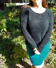 "46"" LARGE 70% Angora Sweater! FUZZY Furry Fluffy SOFT!"