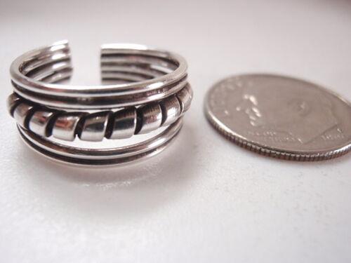 Bali Style 16 mm Toe Bague Réglable Argent Sterling 925 750 A