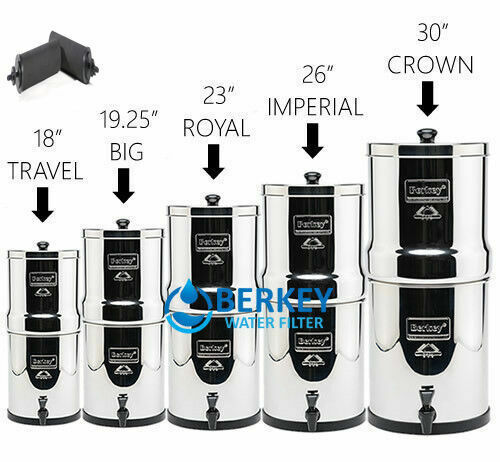 Berkey Water Filter System with 2 - BB9 Filters- Travel, Big, Royal, Crown