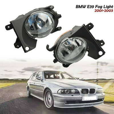 for 2001-2003 BMW E39 525i 530i 540i Clear Lens Bumper Fog Lights Lamps w// Bulbs