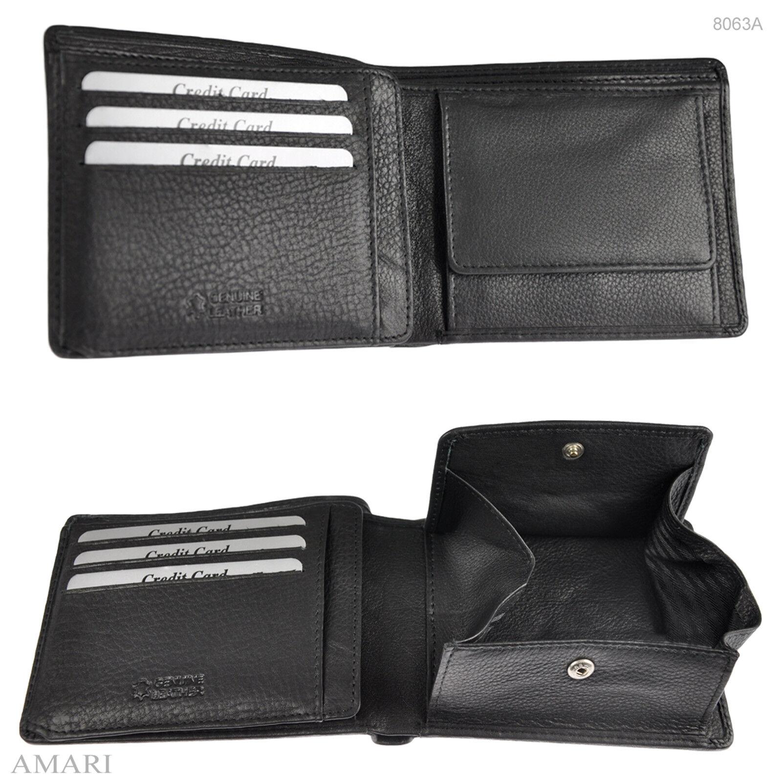 AMARI Damen Portemonnaie mit RFID-Schutz Rindnappaleder Geldbörse Geldtasche