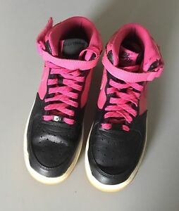 Nike-Air-Force-1-Mid-GS-518218-016-Black-Pink-White-Size-7Y
