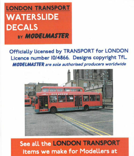Modelmaster 1:76th Professional Silk Screen Watersllde Decals BUS ADVERTS  1