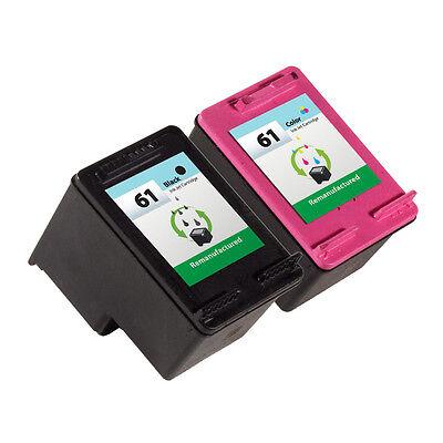 2 Pack HP 61 Ink Cartridge - Deskjet 1055 Deskjet 3000 Deskjet 3050 Printer