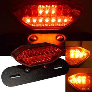 28 LED LICENSE BRAKE LIGHT TAIL LIGHT FOR MOTORCYCLE BOBBER CAFE RACER CLEAR