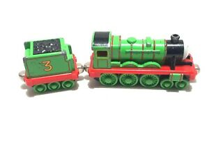 2002 Learning Curve Thomas & Friends Henry W/ Tender Die Cast Metal Toy Train