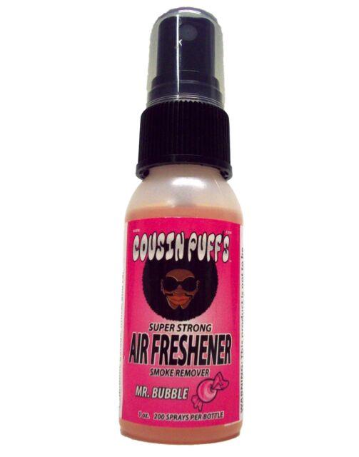 Cousin Puff's Air Freshener Smoke Eliminator Mr.Bubble Bubble Gum Scented Spray