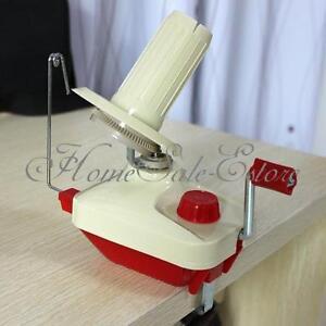 Hand-Operated-Knitting-Roll-String-Yarn-Fiber-Wool-Thread-Ball-Winder-Holder-NEW