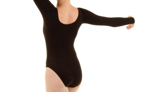 Quality Assured Free-shipping Soft Cotton Long Sleeve Leotards Ballet Yoga