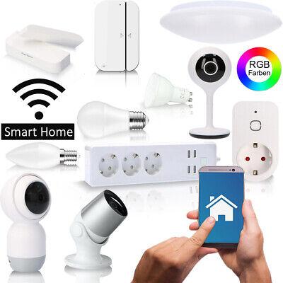 Smart Home 360° Kamera Birne Leuchte Türklingel Fensterkontakt Steckdose W-Lan