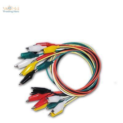 Kroko-Set - Krokodielklemmen Satz - 10 Kabel 5 Farben