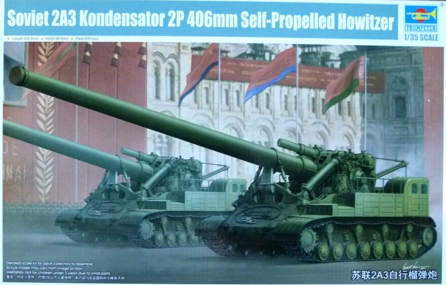 Trumpeter 1 35 Soviet 2A3 Kondensator 2P 406mm Self-Propelled Howitzer Model Kit