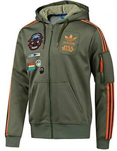 New-Adidas-Original-Jacket-StarWars-Flock-X-Wind-Track-hoodie-Green-Olive-O58904