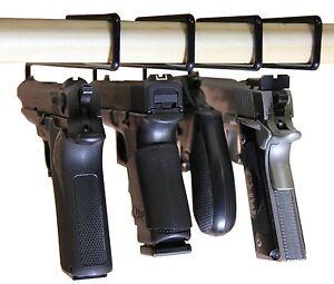 USA-GunClub-Gun-SAFETY-STORAGE-Hanger-Pack-of-4-Original-Handgun-Hangers