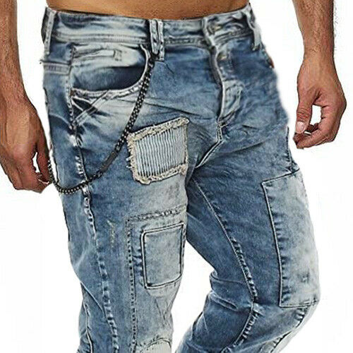 Neu Cipo /& Baxx CUTLER Herren Jeans Denim Slim Fit Blau CD254 alle Gr