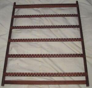 Image Is Loading Wood Earring Rack 177 Paduck Wall Mount Case