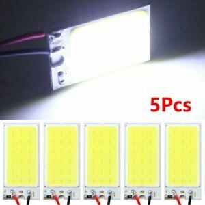 10x белый Cob светодиодная панель купол света салона лампы 12 В + T10 фестона адаптеры комплект