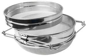 VIVO-Stainless-Steel-Honey-Strainer-Double-Sieve-Bee-Keeping-Equipment-Filter