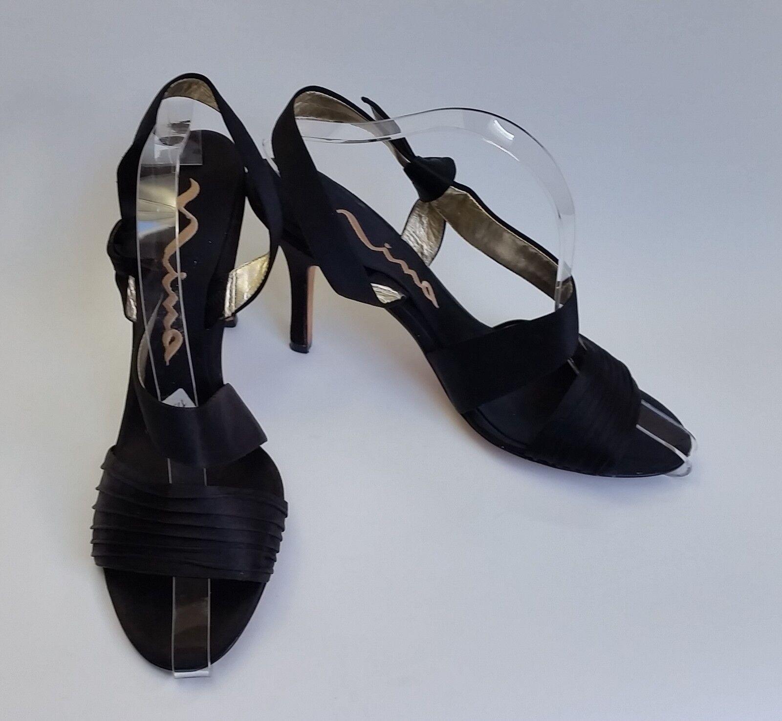 forma unica Nina scarpe Heels nero Sandals Sandals Sandals Fabric Strappy Dressy donna Dimensione 9.5 M EU 39.5  consegna gratuita e veloce disponibile