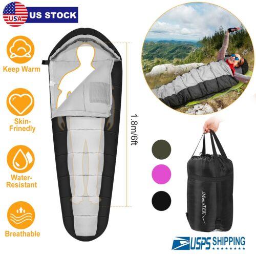 5-10 ℃ 4 Season Adults Thick Outdoor Camping Hiking Mummy Sleeping Bag Warmly